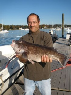 Mike Sr. with 8 1/2 lb. Blackfish