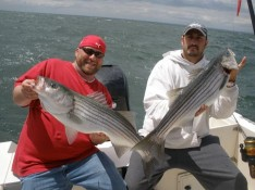 MIKE AND DAVID WITH 15LB. PLUS STRIPED BASS