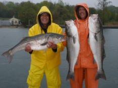 Ron and Rick with some nice Striped Bass