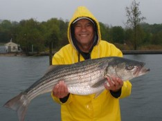 Ron loving the Rain and the fishing !!!