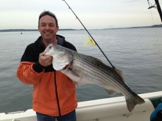 Mike with one of many nice Stripers !!!
