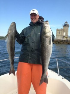 "Rick ""the big meat"" with some serious Stripers"