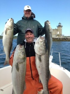 Rick and Skip with some 20 lb. class Bass