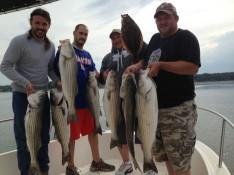 Craig, Dave, Mike and Gordon with nice Bass