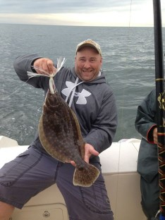 "Mike with a nice 21"" Fluke"