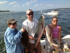Marilyn, Joe and Regg with some of their catch !!!