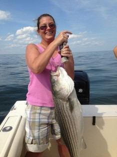 Regina with another sweet fish !!!