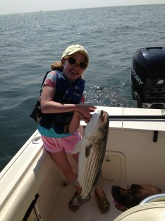 Sasha with her 1st Bass of the day