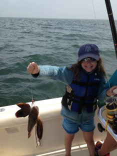 Saidie with a Sea Robin
