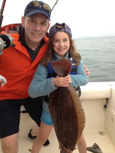 "Rob and Saidie with her 28"" Fluke"