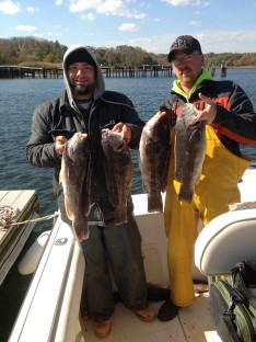 Chase and Hank with nice 3-5 lb. Tog