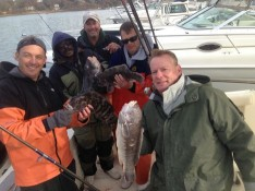 The gang with their catch !!!