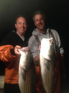 Mike and Skip enjoying their Catch !!!
