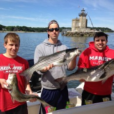 Ryan ,Andrew and Steven with their Catch !!!
