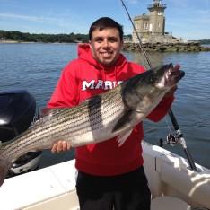 Steven with a nice 25 lb. Bass !!!