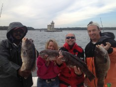 Don, Ann, Chris, and Mike with some nice Blackfish !!!