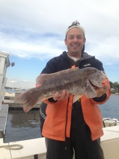 Mike with his 7 lb. Balckfish