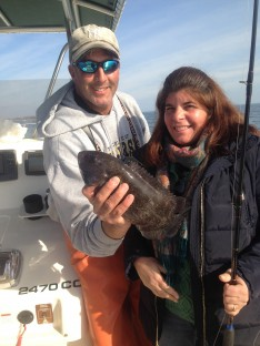 Skip and ToniAnn with her 1st. Blackfish