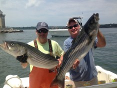 Tom and Rich with 20 lb. class Striped Bass