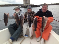 Jim, Jay and Dave with some of their catch !!!